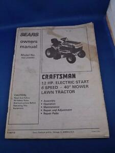 sears lawn tractor owners manual craftsman 12 hp electric start 6 rh ebay com craftsman ys4500 riding mower owner's manual craftsman riding mower lt1000 owners manual