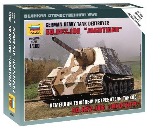 Zvezda 1//100 German Jagdtiger Heavy Tank Destroyer Sd.Kfz.186 Z6206