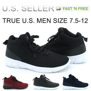 Men-039-s-Basketball-Shoes-High-Top-Athletic-Sneakers-Light-Weight-Mesh-Up-Fashion