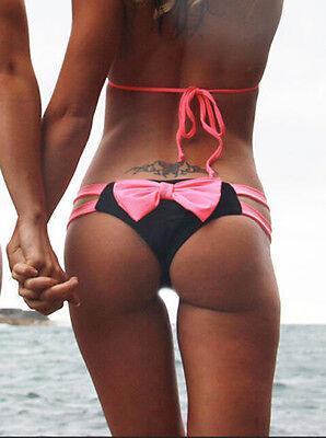 Hot Women Bowknot Bikini Thong Lovely Bottom Swimsuit Brazilian Cheeky Swimwear