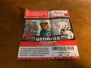 2014 Georgia Bulldogs v Tennessee Vols Football Ticket ...