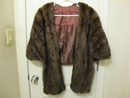 VINTAGE MINK KERRYBROOKE STOLE / SHAWL BY SEARS AN