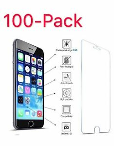 100x For iPhone 7 For iPhone 7 Plus Tempered GLASS Screen Protector Bubble Free