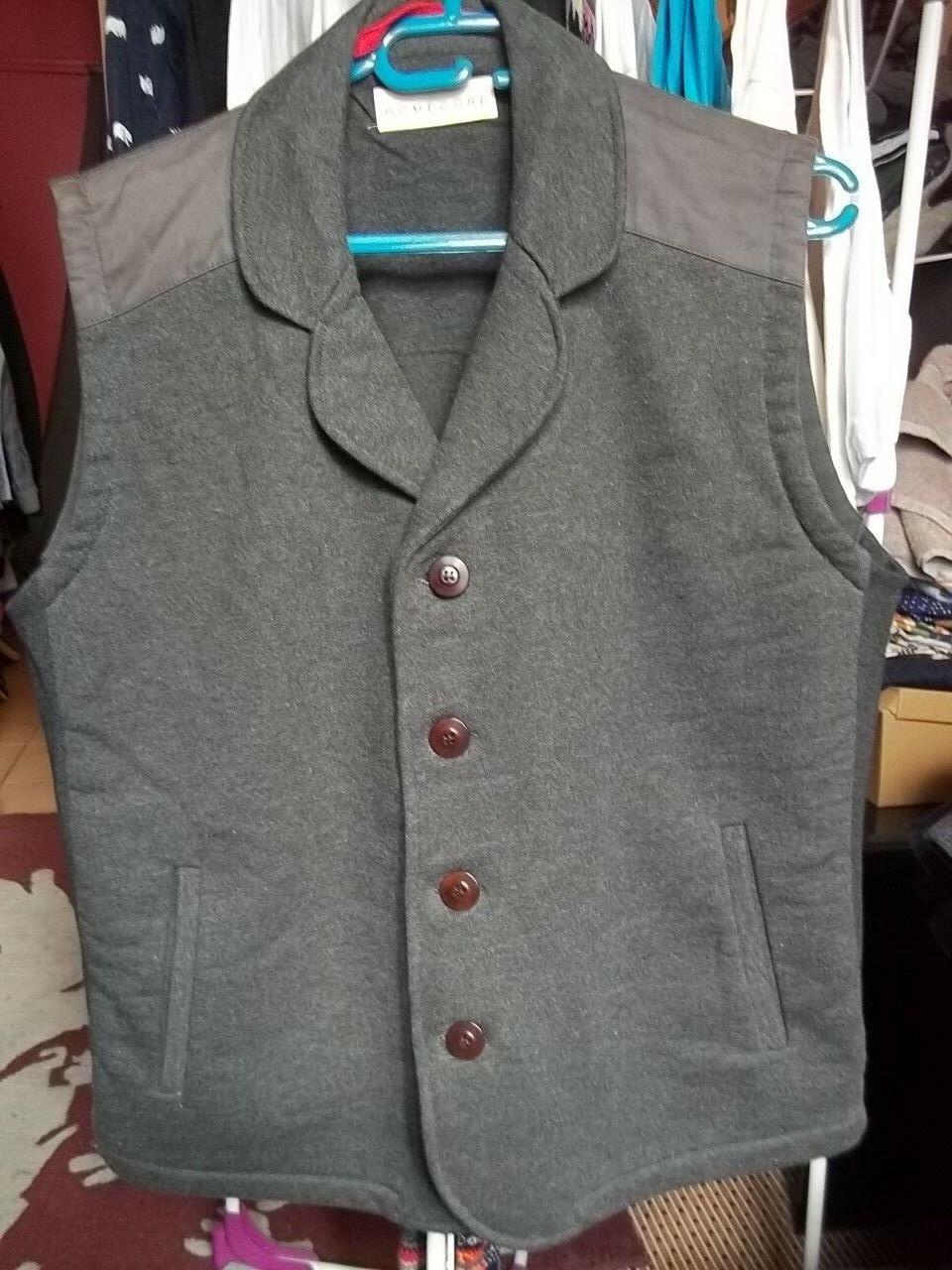 b43aca0d18c manche homme Homecore gros coton Grey vest size L sans Veste ...
