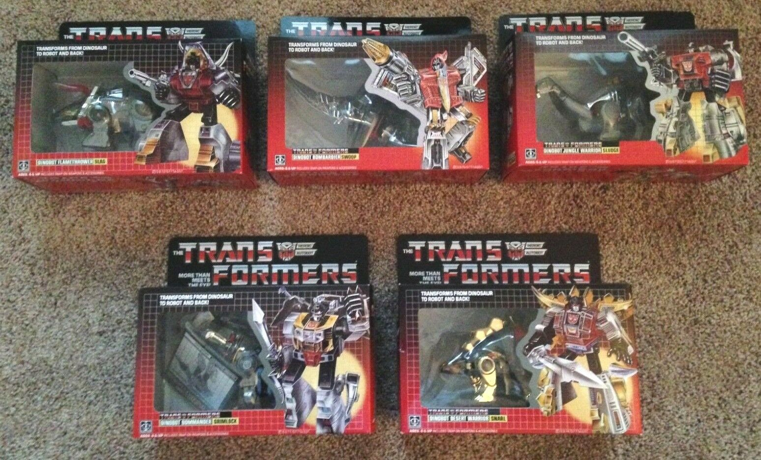 Transformers Dinobots Set - REISSUE NEW IN BOX NEVER OPENED