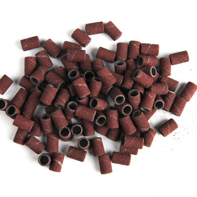 "Pro 100PC Electric Pen Nail Drill Sanding Bands 120"" Nail Art Pedicure File Set"
