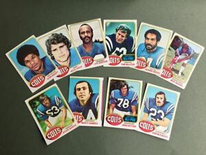 Lot-cartes-NFL-Baltimore-ColtsTopps-1976-1980-1981-Football-Americain