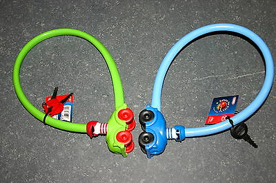Kinderfahrrad ABUS Kabelschlossc1505 / 55 Kids - blau, grün o rosa - 4 mm - NEU