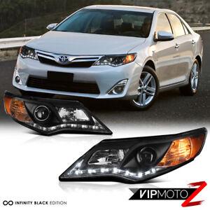 L R Diamond Black Projector Headlight 2012 2014 Toyota Camry Xle Se