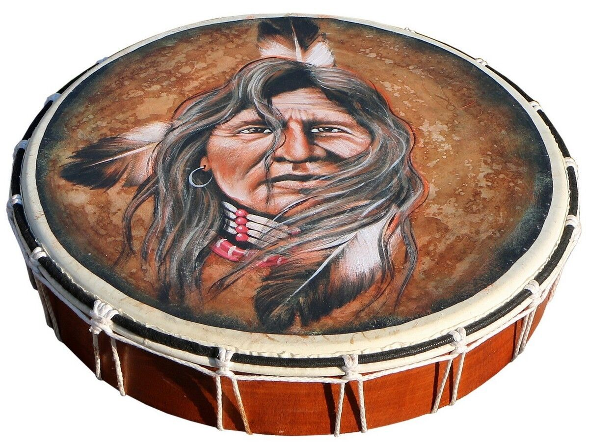 Schamanen Trommel handbemalt Ø 40 cm Rahmentrommel Handtrommel Indianer SH01