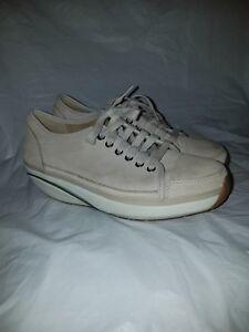 265f8535e5d3 MBT Womens  Nafasi  Tan beige Sz 38 (7 7.5) Rocker Walking Shoes ...