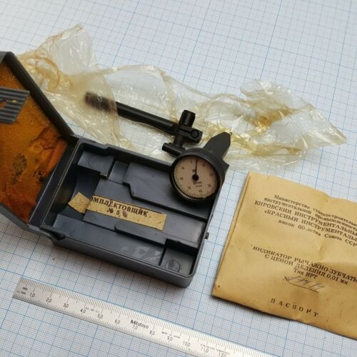 Vertical Lever Dial Test indicator USSR Messgerät Puppitast 0.8mm // 0.01mm