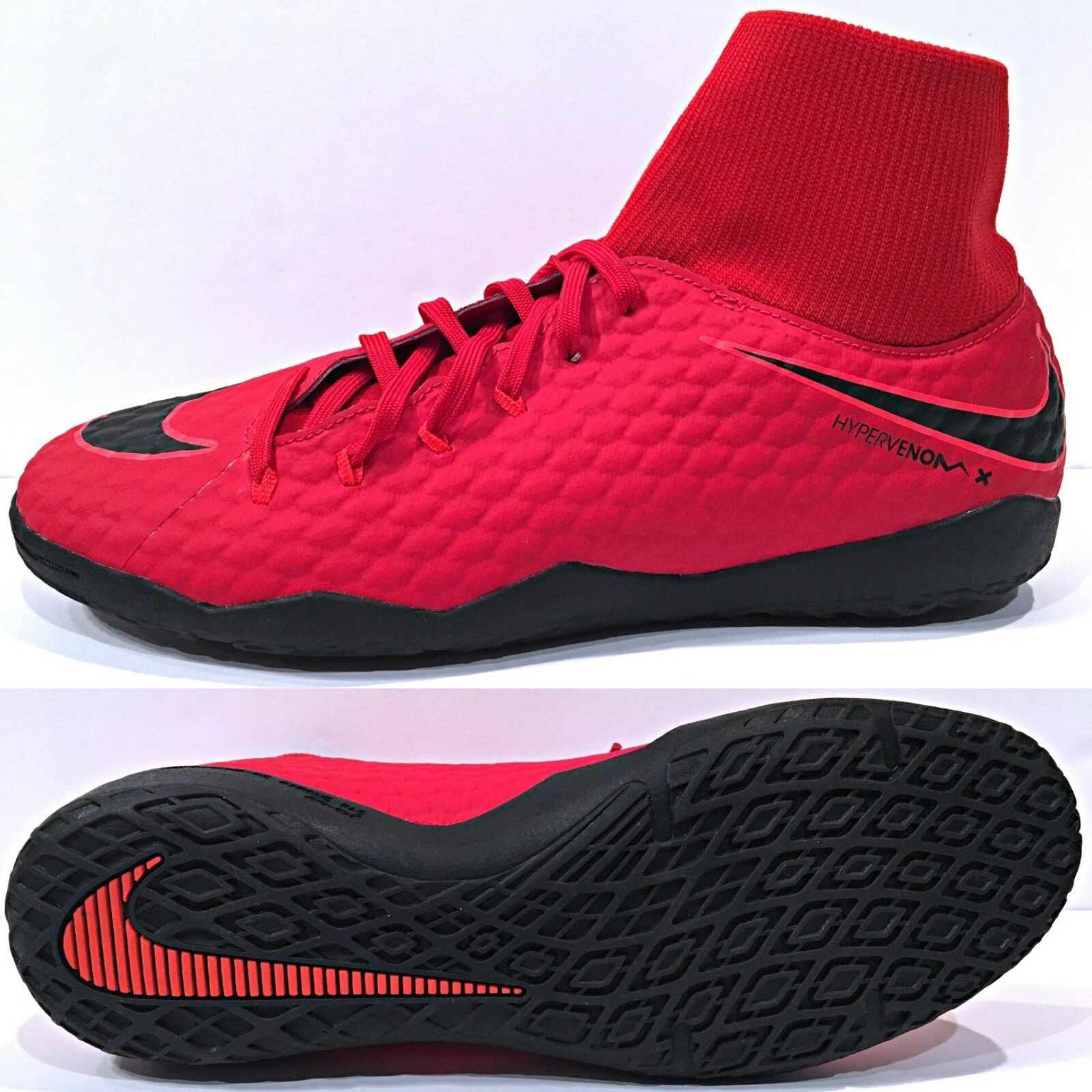 Nike HypervenomX Phelon III 3 DF IC Mens Indoor Soccer Red/Black Price reduction The most popular shoes for men and women