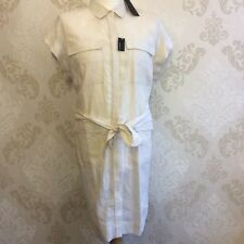 NEW M&S Autograph Women's Dress, 100% Linen, Plus Size 18 Colour Calico Cream