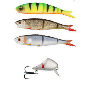 SAVAGE GEAR SOFT 4PLAY SWIM JERK TWIN LURE PACK READY TO FISH PIKE PERCH ZANDER