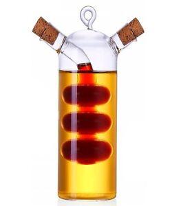 Essig öl Spender 2in1 ölspender essigspender mit korken glas essig öl dosierer