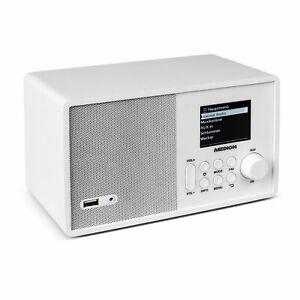 MEDION-E85040-MD-87540-Wireless-LAN-Internet-Radio-UKW-Empfaenger-DLNA-weiss