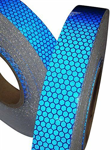 25mm,50mm /& 100mm * 1m,2m,2.5m,3m,4m /& 5m Blue High Intensity Reflective Tape