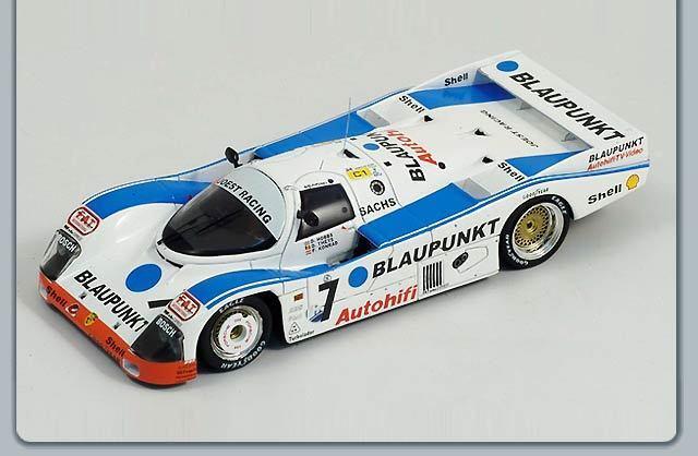 Porsche 1/43 962 C Blaupunkt Le Femmes 24 hrs 1988 1988 1988 #7 Hobbs/Theys/Konrad | Matériaux Soigneusement Sélectionnés  | Dans De Nombreux Styles  | Expédition Rapide  b8919e