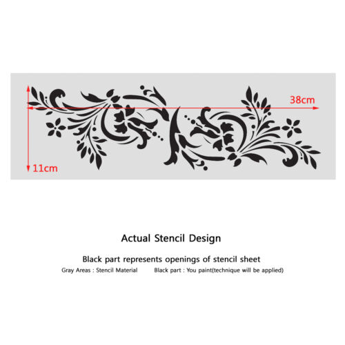 Wall Stencils Border Stencil Pattern 083 Reusable Template for DIY wall decor