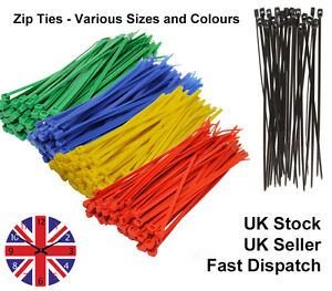 100-x-Cable-Ties-Tie-Wraps-Nylon-Zip-Ties-Strong-Extra-Long-All-Sizes-amp-Colours