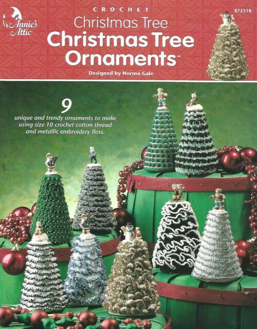 Crochet Christmas Tree Ornaments Annie S Attic Booklet Cotton Thread