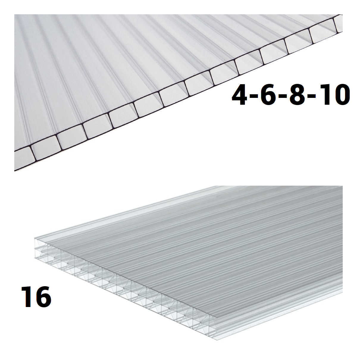 4mm 6mm 8mm 10mm 16mm Polycarbonate Roofing Sheets UV Protection