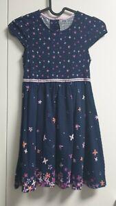 Topolino Kleid Kleidchen dunkelblau Blumen Schmetterlinge ...