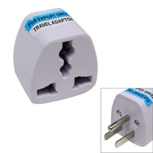 Universal Power Plug Adapter Outlet Converter UK EU AU To US USA AC