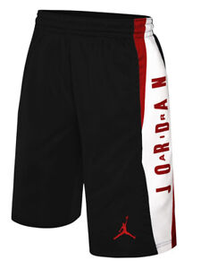 Nike-Air-Jordan-Boys-Dri-Fit-Take-Over-Basketball-Shorts-Black-Red-White-New