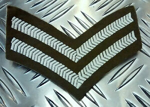 Genuine-British-Army-Corporal-Rank-Stripes-Chevrons-Badges-Patches-2-Chev-G1