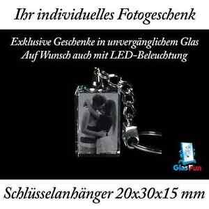 3d schl sselanh nger glas kristall geschenk foto graviert - 3d kristall foto ...