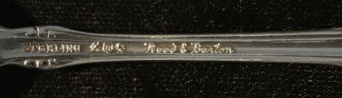 Reed And Barton Georgian Rose Salad Fork Sterling Silver Flatware