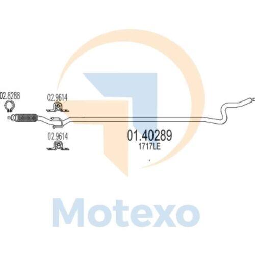 MTS 01.40289 Exhaust PEUGEOT 207 1.6 HDi TD 110bhp 01//06