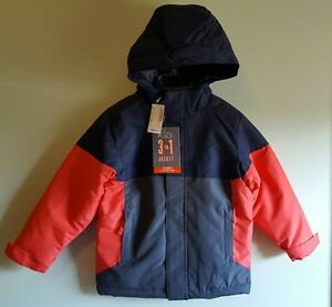 212100502 NWT  70 Children s Place Boys SIZE 4 Winter Coat 3 IN 1 Navy Blue ...