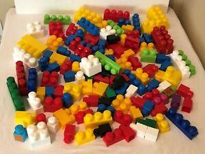 Mega-Bloks-126-Toddler-Large-Jumbo-Building-Blocks-Preschool-Toy-Lot-Of-126-Pcs