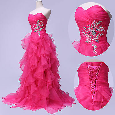 Sexy New Masquerade Organza Quinceanera Prom Party Ball Gowns Evening Long Dress