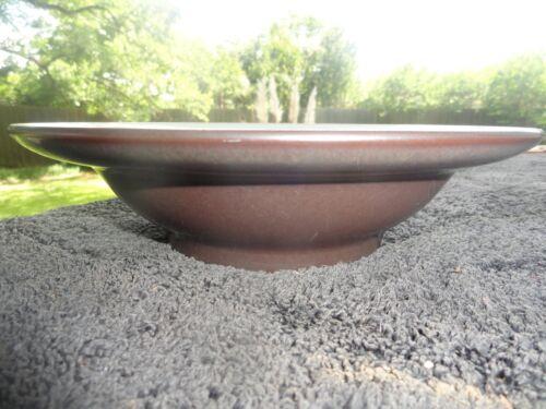 Cereal Bowl Denby Sienna Light Blue Interior Brown Exterior Rimmed Soup