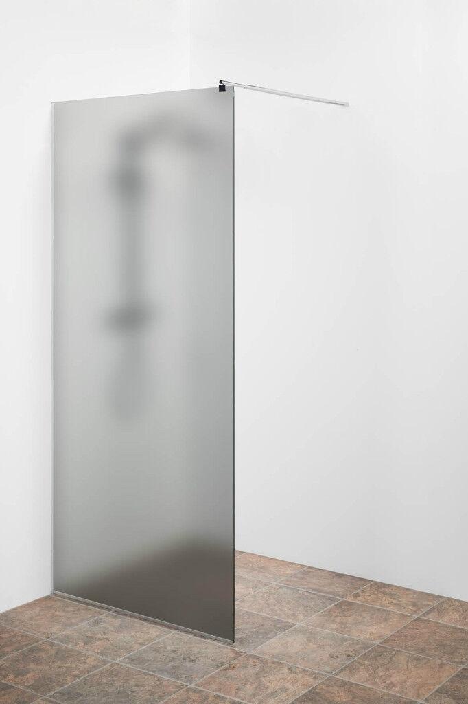 Duschwand GanzGlas satiniert Grau getönt 70x200cmWalk-in Dusche Duschabtrennung