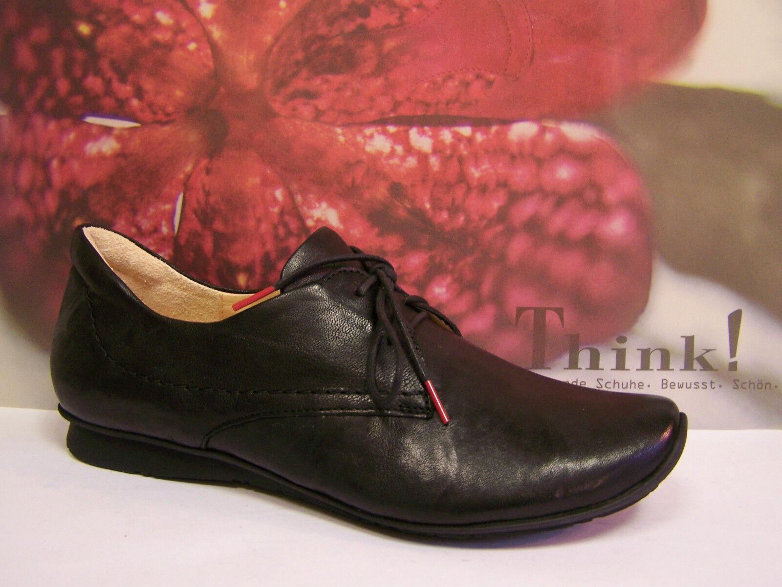 Think  aktueller Schuh schwarz Modell Chilli aktueller  Schnürer mit Umweltzeichen 315c2f