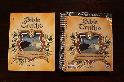 Bob Jones Bible Truths 6 Fourth Edition Teacher guide CD and workbook homeschool