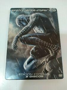 Spider-Man-3-Edizione-Speciale-2-X-DVD-Steelbook-Spagnolo-English