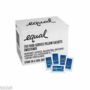 equal Zero Calorie Sweetener 800 Count Single Serve Packets
