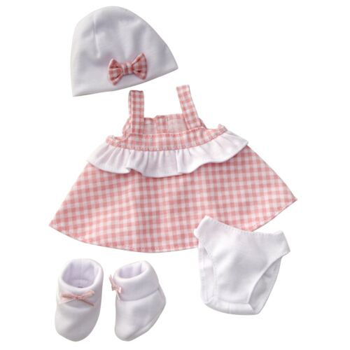 """4 Pieces Toy Figurine Clothing 13/"""" Pink Sundress Doll Outfit"""