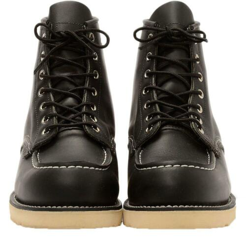 Red Wing Boots Classic Moc Toe Boot 8130 Premium Black Leather Shoes Brown Work