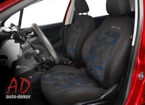 Renault Captur 2x Front Velour Sitzbezüge Schonbezüge Sitzbezug Auto Blau