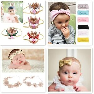 Hot-Pretty-Baby-XMAS-HairBand-Crown-Sunflower-Bow-Kids-Headwear-Accessories