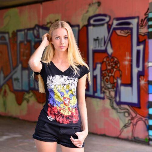 RUSSLAND Damen Classic Shirt     Girls Russia Länder T-Shirt    ZOONAMO Shirt