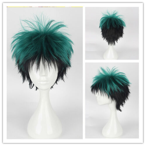 My Hero Academia Midoriya Izuku Short Green Fluffy Wig Cosplay Wig