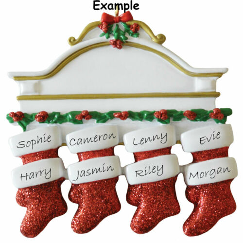 5 3 Personalised Christmas decoration /& 7 White Mantle 2